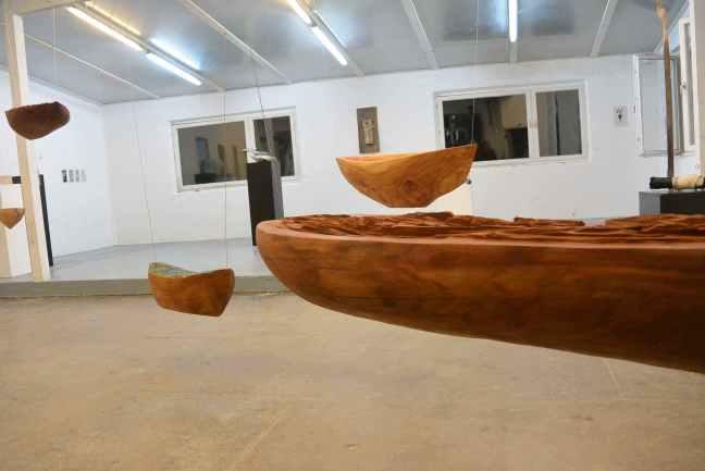 Gedankenreisen - Installation - Oktober 2015 - Edith Maryon Kunstschule Freiburg Munzingen