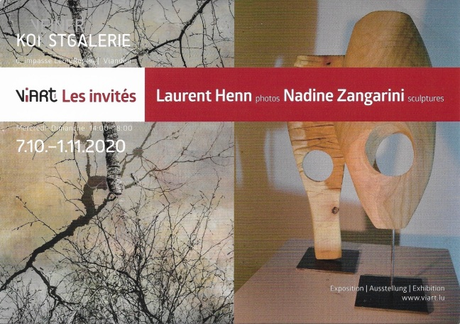 invitation ViArt Expo Laurent et Nadine verso